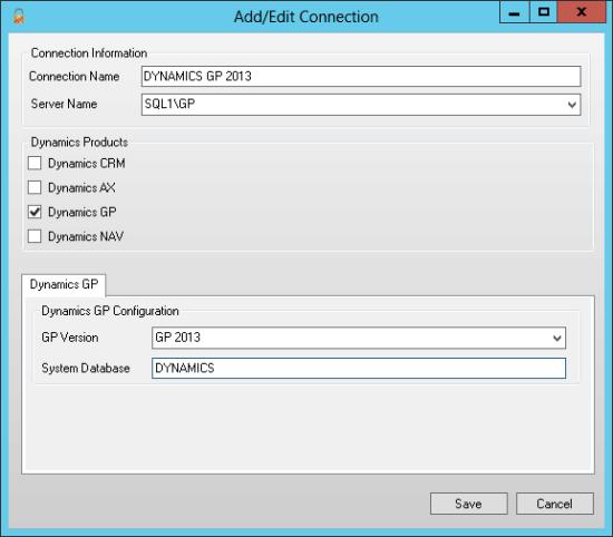 Add/Edit Connection