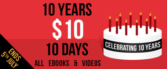 Packt Publishing - 10 Years, $10 for 10 Days