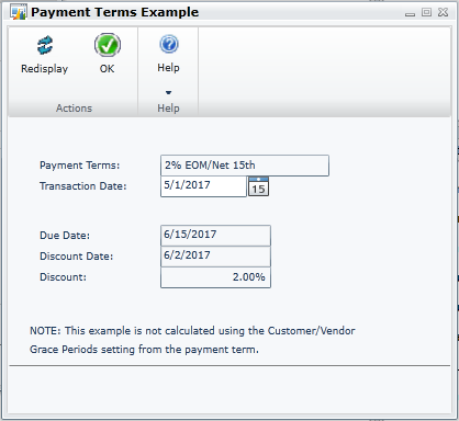 Payment Terms Example