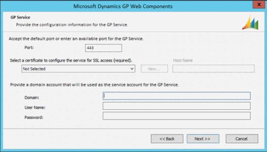 Microsoft Dynamics GP Web Components