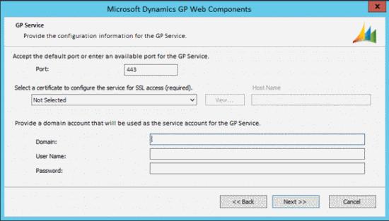 Microsoft Dynamics GP Web Components