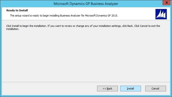 Microsoft Dynamics GP Business Analyzer - Ready to Install