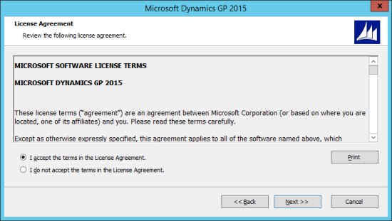Microsoft Dynamics GP 2015 - License Agreement