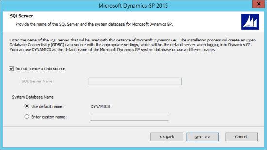 Microsoft Dynamics GP 2015 - SQL Server