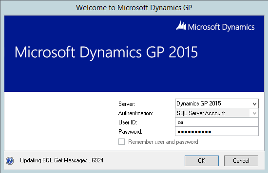 Welcome to Microsoft Dynamics GP