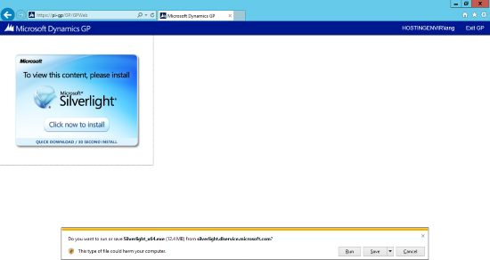 Do you want to run or save Silverlight_x64.exe