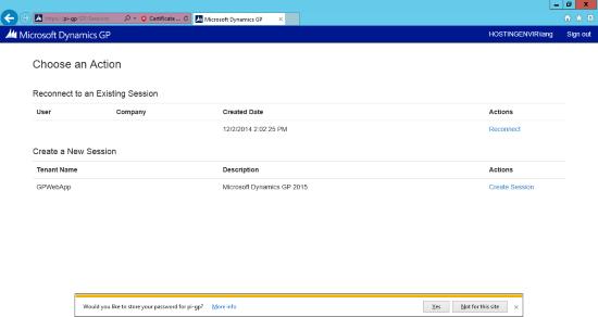 Internet Explorer - Web Client - Choose an Action