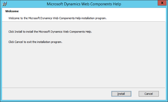 Microsoft Dynamics GP Web Components Help - Welcome