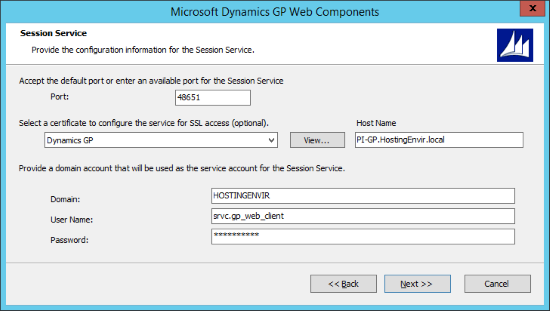 Microsoft Dynamics 2015 Web Components - Session Service