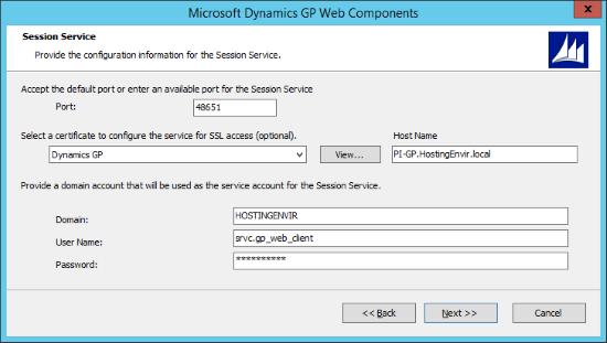 Microsoft Dynamics 2015 Web Components - Session Service