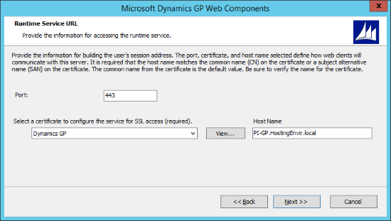 Microsoft Dynamics 2015 Web Components - Runtime Service URL