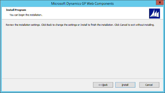 Microsoft Dynamics 2015 Web Components - Installation