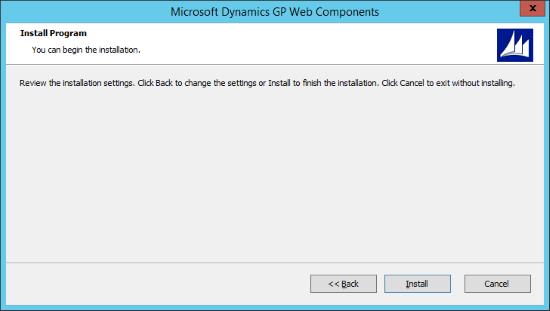 Microsoft Dynamics 2015 Web Components - Installation