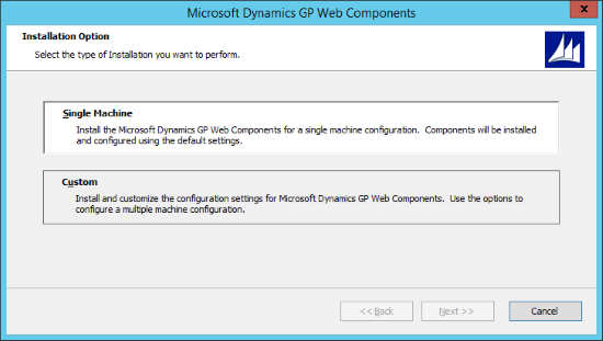 Microsoft Dynamics 2015 Web Components - Installation Option