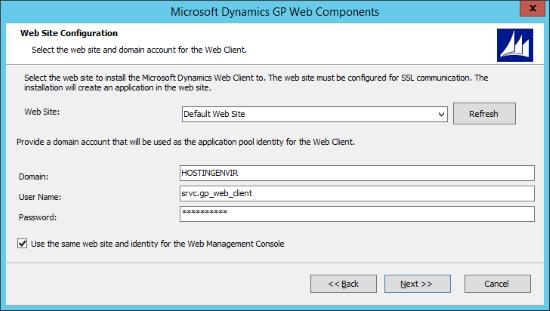 Microsoft Dynamics 2015 Web Components - Web Site Configuration