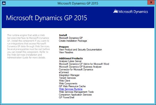 Micvrosoft Dynamics GP 2015