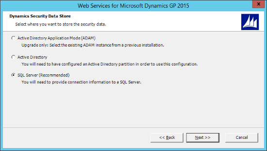 Web Services for Microsoft Dynamics GP 2015 - Dynamics Security Data Store