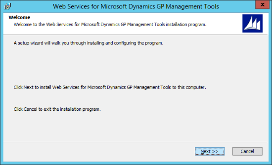 Web Services for Microsoft Dynamics GP GP Management Tools - Welcome