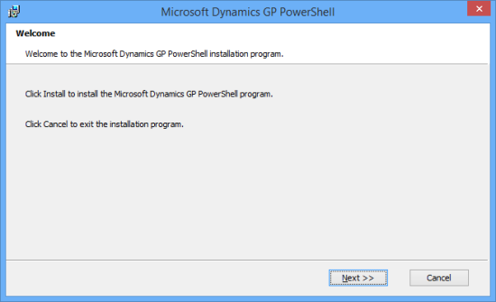 Microsoft Dynamics GP PowerShell - Welcome