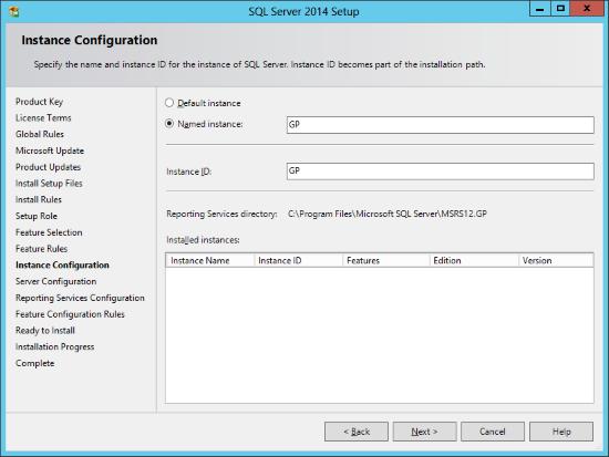 SQL Server 2014 Setup - Instance Configuration