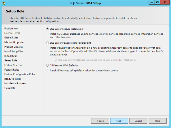 SQL Server 2014 Setup - Setup Role