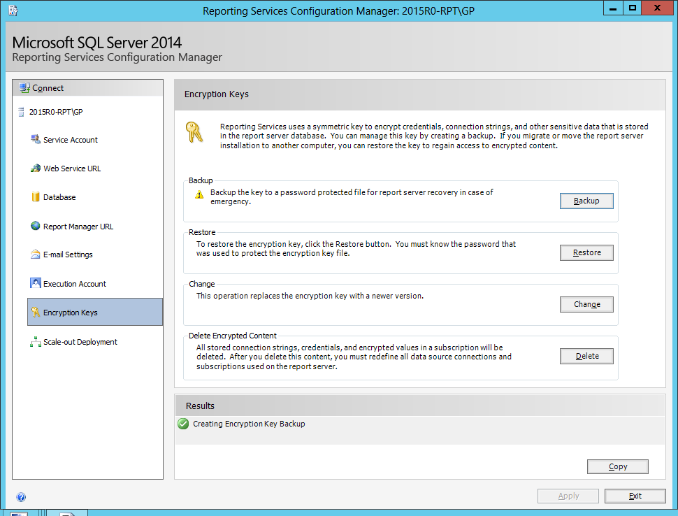 Report writing services with sql 2014