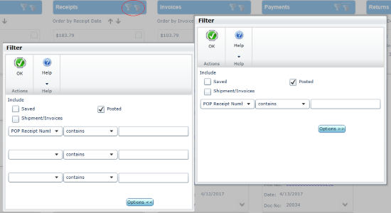 Purchasing All in One Document View – Filter