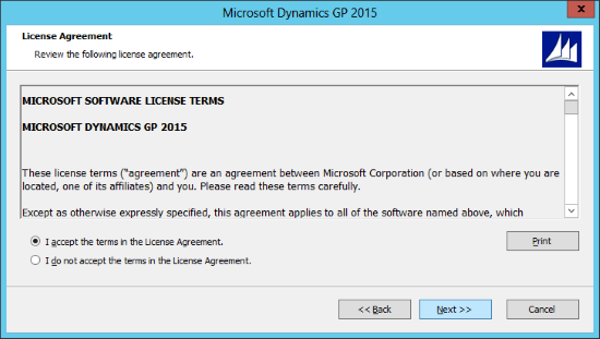 Microsoft Dynamics GP 2015: License Agreement