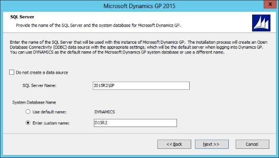 Microsoft Dynamics GP 2015: SQL Server
