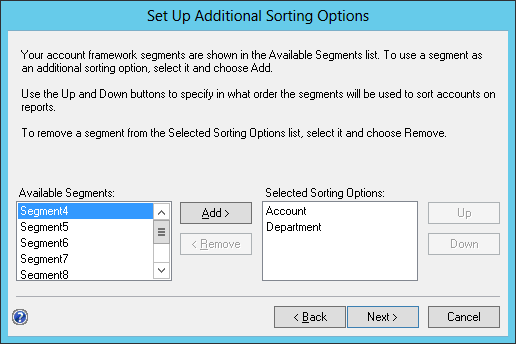 Set Up Additional Sorting Options