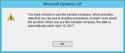 Sample company warning