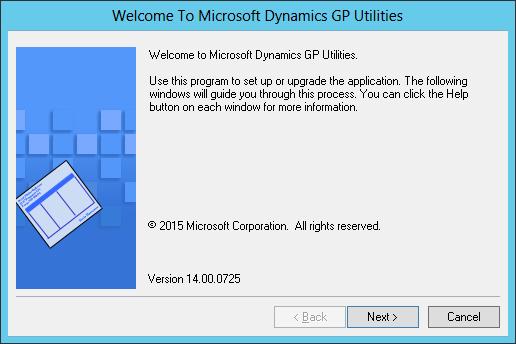Welcome to Microsoft Dynamics GP Utilities