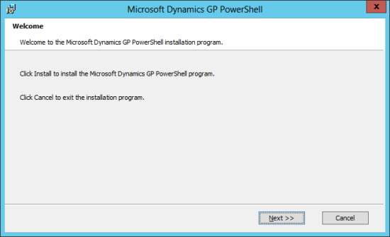 Microsoft Dynamics GP PowerShell: Welcome