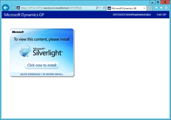 IE: To view this content, please install Microsoft Silverlight