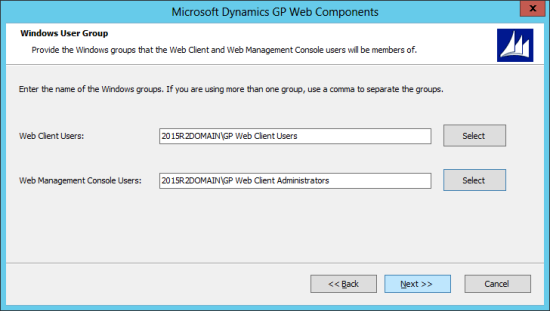 Microsoft Dynamics GP Web Components: Windows User Group