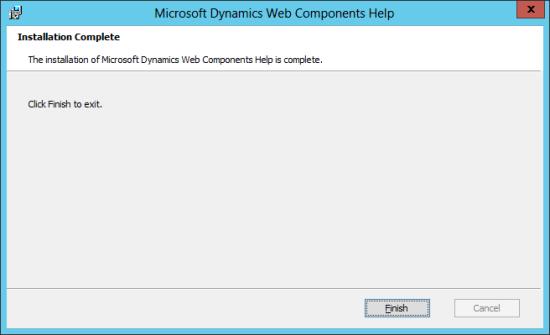 Microsoft Dynamics Web Components Help:
