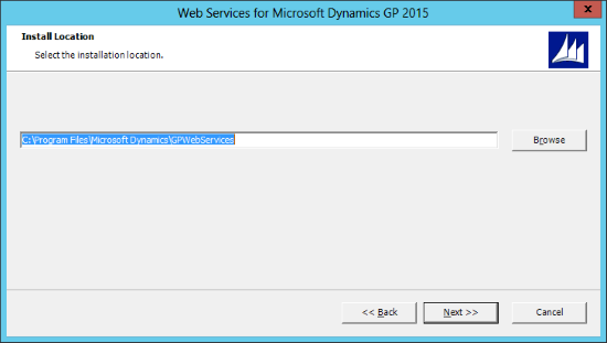 Web Services for Microsoft Dynamics GP 2015: Install Location