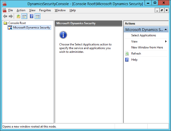 DynamicsSecurityConsole