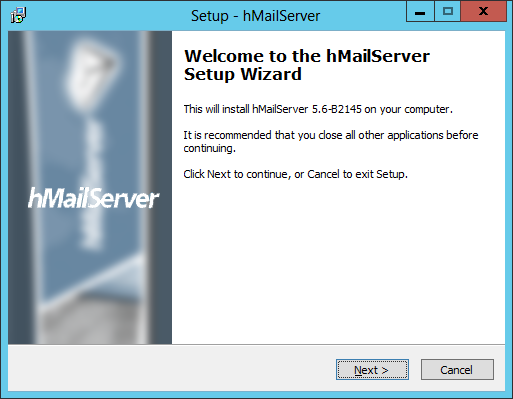 Setup - hMailServer: Welcome to the hMailServer Setup Wizard
