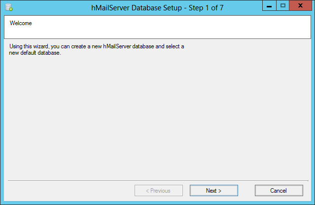 hMailServer: Database Configuration - Microsoft Dynamics GP