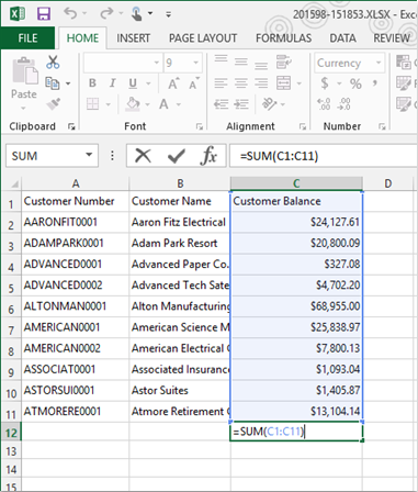 Excel Export as Numbers