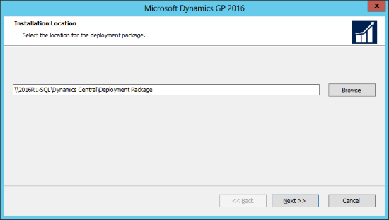 Microsoft Dynamics GP 2016: Installation Location