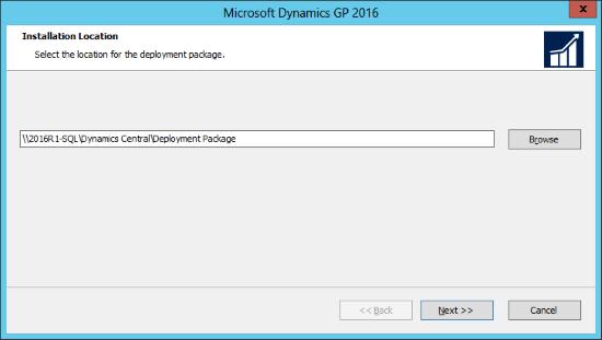 Microsoft Dynamics GP 2016: Installation Location