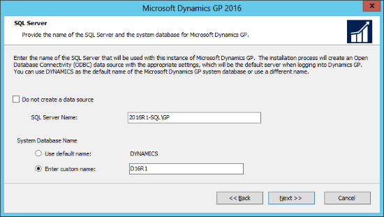 Microsoft Dynamics GP 2016: SQL Server
