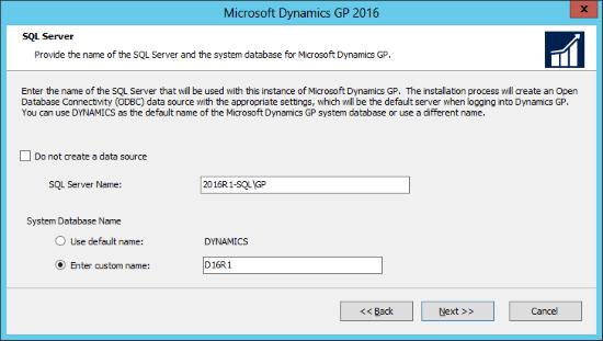Microsoft Dynamics GP 2016: SQL Server