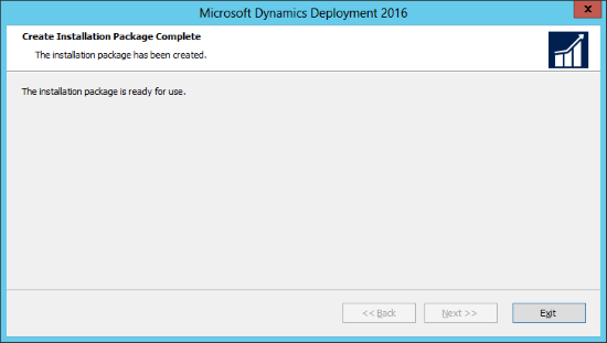 Microsoft Dynamics GP 2016: Create Installation Package Complete