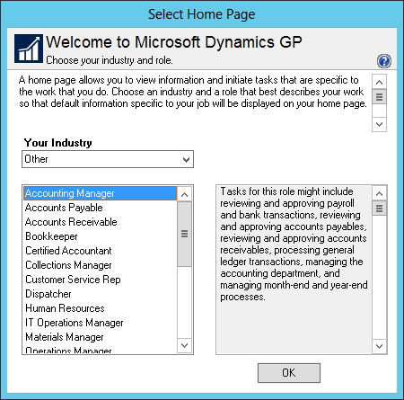 Select Home Page