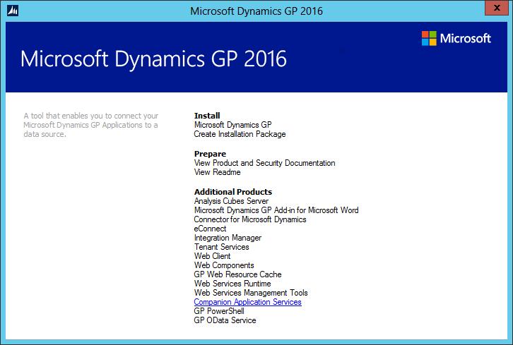 Microsoft Dynamics GP Setup Utility