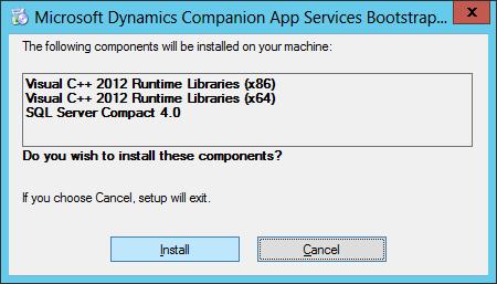 Microsoft Dynamics GP Companion App Services Bootstrapper