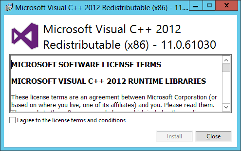 Microsoft Visual C++ 2012 Redistributable (x86)